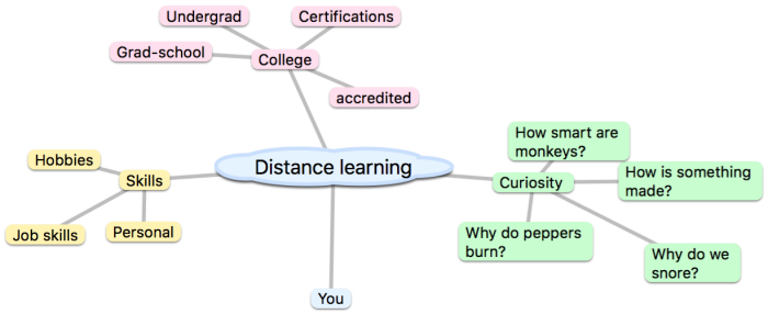 Distance learning blog